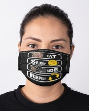 Eat Sleep Ride Repeat Cloth face mask aos-face-mask-lifestyle-01