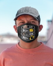 Eat Sleep Ride Repeat Cloth face mask aos-face-mask-lifestyle-06