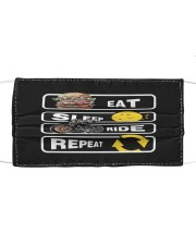 Eat Sleep Ride Repeat Cloth face mask front