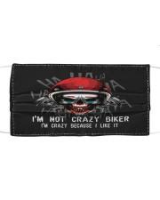 Crazy Biker - i like it Cloth face mask front