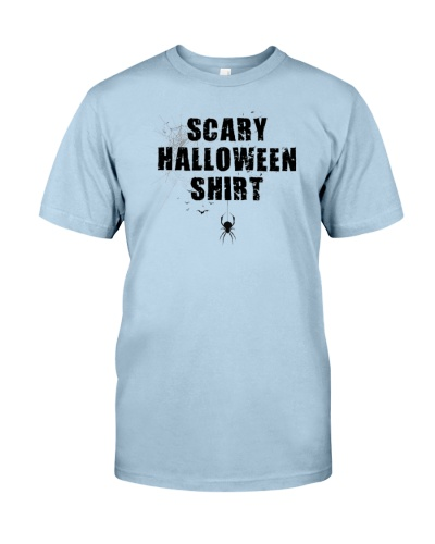Funny Scary Halloween Shirt Distressed Spider Web
