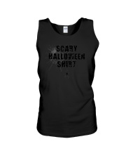 Funny Scary Halloween Shirt Distressed Spider Web  Unisex Tank thumbnail