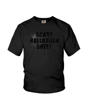 Funny Scary Halloween Shirt Distressed Spider Web  Youth T-Shirt thumbnail