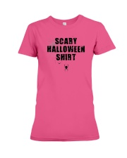 Funny Scary Halloween Shirt Distressed Spider Web  Premium Fit Ladies Tee thumbnail