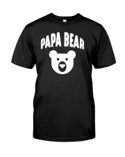 Papa Bear  Funny Father Humor Daddy to Be Classic T-Shirt tile