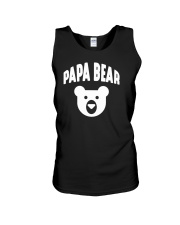 Papa Bear  Funny Father Humor Daddy to Be Unisex Tank tile