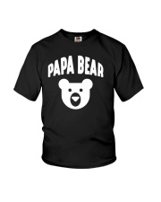 Papa Bear  Funny Father Humor Daddy to Be Youth T-Shirt tile