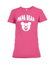 Papa Bear  Funny Father Humor Daddy to Be Premium Fit Ladies Tee thumbnail