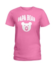 Papa Bear  Funny Father Humor Daddy to Be Ladies T-Shirt tile