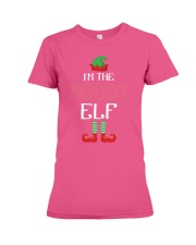 Funny I am The Moody Elf Family Group Christmas Premium Fit Ladies Tee thumbnail