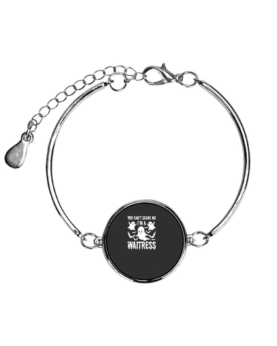 You can not Scare Me I am A Waitress Halloween Cos Metallic Circle Bracelet