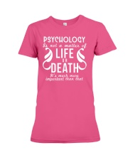 Psychology Is Important Funny Geek Therapist Gift Premium Fit Ladies Tee thumbnail