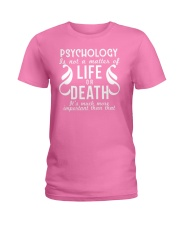 Psychology Is Important Funny Geek Therapist Gift Ladies T-Shirt thumbnail