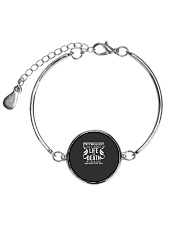 Psychology Is Important Funny Geek Therapist Gift Metallic Circle Bracelet thumbnail
