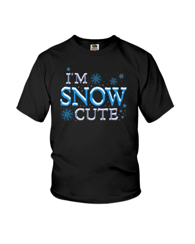 I am Snow Cute Funny Christmas Pun Snowflakes Gag