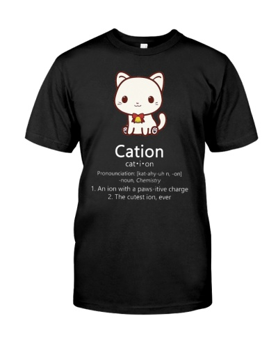 Cute Science Cat Christmas Cation Pawsitive Elemen