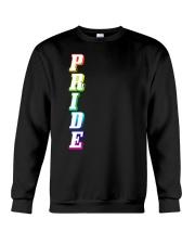 Gay Pride Rainbow Outline Not Straight Vertical LG Crewneck Sweatshirt thumbnail