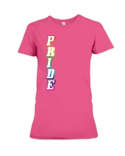 Gay Pride Rainbow Outline Not Straight Vertical LG Premium Fit Ladies Tee thumbnail