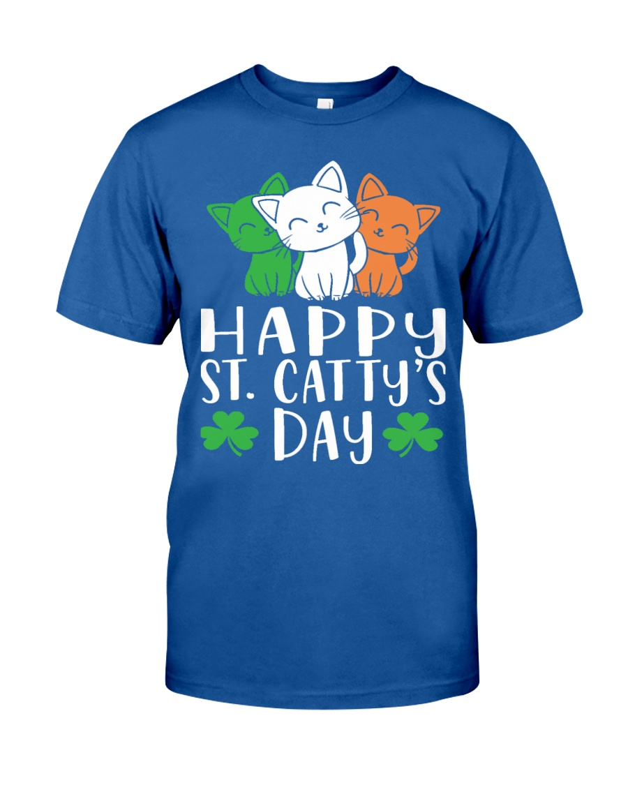 St Patricks Day Cat Lover Kitten Funny Apparel 2 Classic T-Shirt