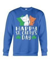 St Patricks Day Cat Lover Kitten Funny Apparel 2 Crewneck Sweatshirt thumbnail