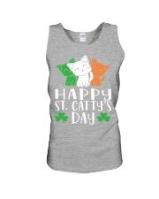 St Patricks Day Cat Lover Kitten Funny Apparel 2 Unisex Tank thumbnail