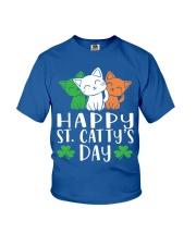 St Patricks Day Cat Lover Kitten Funny Apparel 2 Youth T-Shirt thumbnail
