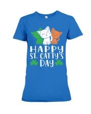 St Patricks Day Cat Lover Kitten Funny Apparel 2 Premium Fit Ladies Tee thumbnail