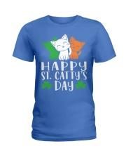 St Patricks Day Cat Lover Kitten Funny Apparel 2 Ladies T-Shirt thumbnail