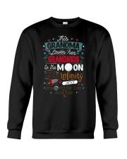 This Grandma Lover Her Grandkids To The Moon And B Crewneck Sweatshirt thumbnail