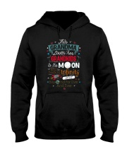 This Grandma Lover Her Grandkids To The Moon And B Hooded Sweatshirt thumbnail