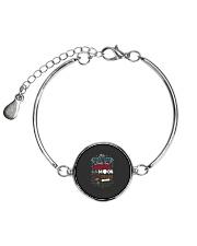 This Grandma Lover Her Grandkids To The Moon And B Metallic Circle Bracelet thumbnail