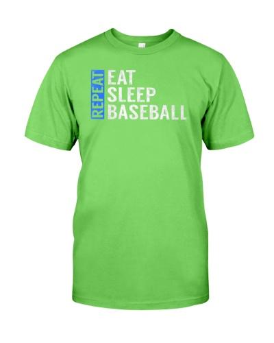 Eat Sleep Baseball Repeat Funny Quote Gag Gift
