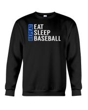 Eat Sleep Baseball Repeat Funny Quote Gag Gift Crewneck Sweatshirt thumbnail
