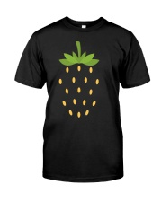 Strawberry Lazy Costume Funny Halloween Spooky Pun Premium Fit Mens Tee thumbnail
