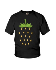 Strawberry Lazy Costume Funny Halloween Spooky Pun Youth T-Shirt thumbnail