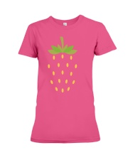Strawberry Lazy Costume Funny Halloween Spooky Pun Premium Fit Ladies Tee thumbnail