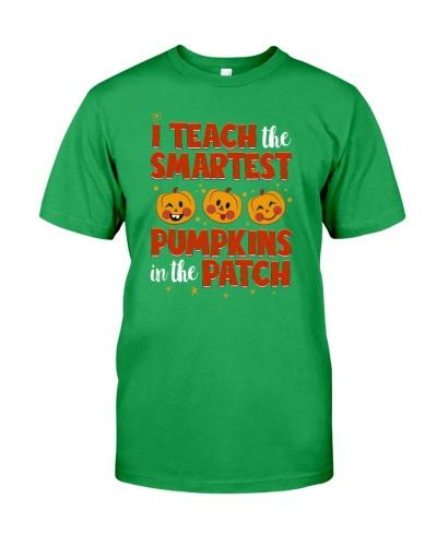 I Teach The Smartest Pumpkins Funny Teacher Autumn