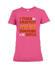 I Teach The Smartest Pumpkins Funny Teacher Autumn Premium Fit Ladies Tee thumbnail
