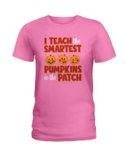 I Teach The Smartest Pumpkins Funny Teacher Autumn Ladies T-Shirt thumbnail