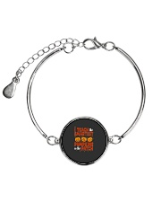 I Teach The Smartest Pumpkins Funny Teacher Autumn Metallic Circle Bracelet thumbnail