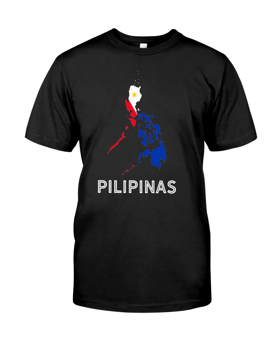 Pilipinas Flag Map Southeast Asian Country Philipp Classic T-Shirt