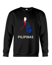 Pilipinas Flag Map Southeast Asian Country Philipp Crewneck Sweatshirt thumbnail