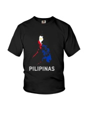 Pilipinas Flag Map Southeast Asian Country Philipp Youth T-Shirt thumbnail