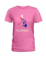 Pilipinas Flag Map Southeast Asian Country Philipp Ladies T-Shirt thumbnail