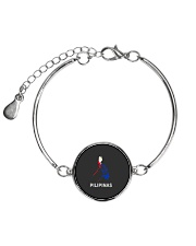 Pilipinas Flag Map Southeast Asian Country Philipp Metallic Circle Bracelet thumbnail