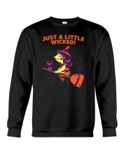 Just A Little Wicked Girl Witch Broomstick Cat Sca Crewneck Sweatshirt thumbnail