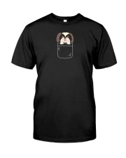 Cute Shih Tzu Puppy in Pocket Dog Lover Gift Premium Fit Mens Tee thumbnail