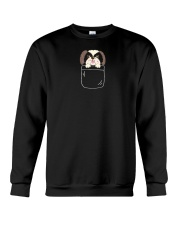 Cute Shih Tzu Puppy in Pocket Dog Lover Gift Crewneck Sweatshirt thumbnail