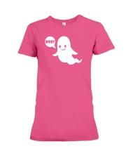 Cute Ghost Boo Funny Ghost Image Halloween Costume Premium Fit Ladies Tee thumbnail