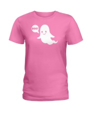 Cute Ghost Boo Funny Ghost Image Halloween Costume Ladies T-Shirt thumbnail